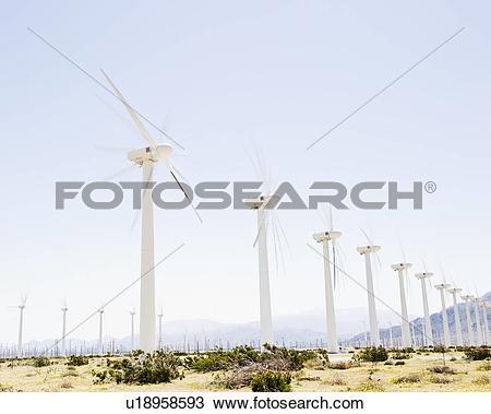 Stock Photo of USA, California, Palm Springs, Coachella Valley.