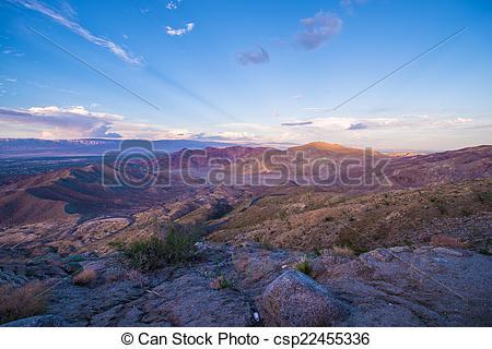 Stock Photos of Coachella Valley Sunset.