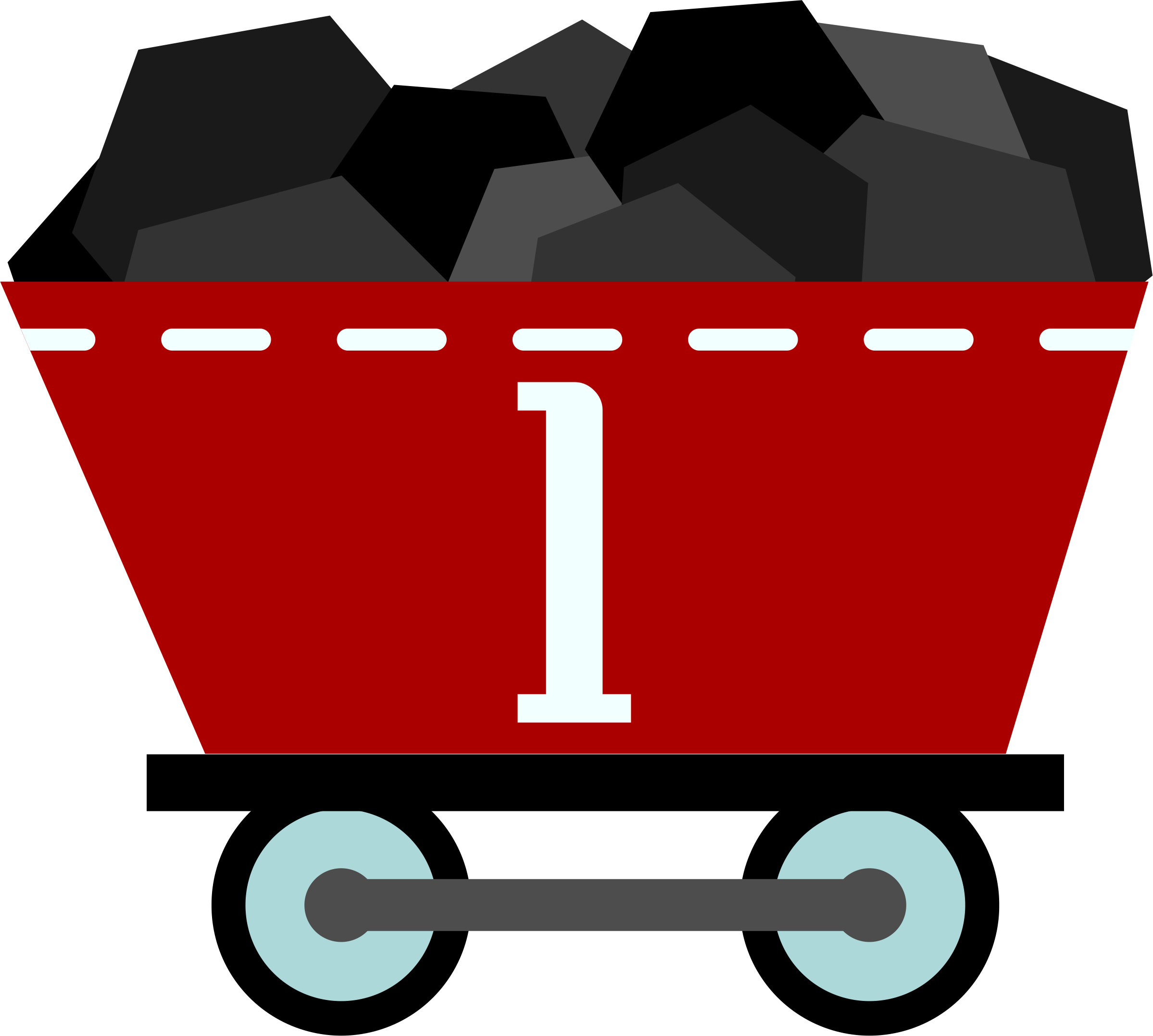 Coal Train Clipart.