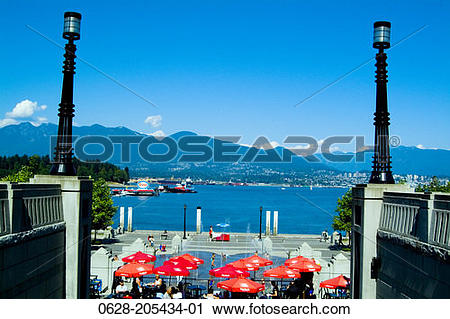 Stock Photography of Canada, British Columbia, Vancouver, Burrard.