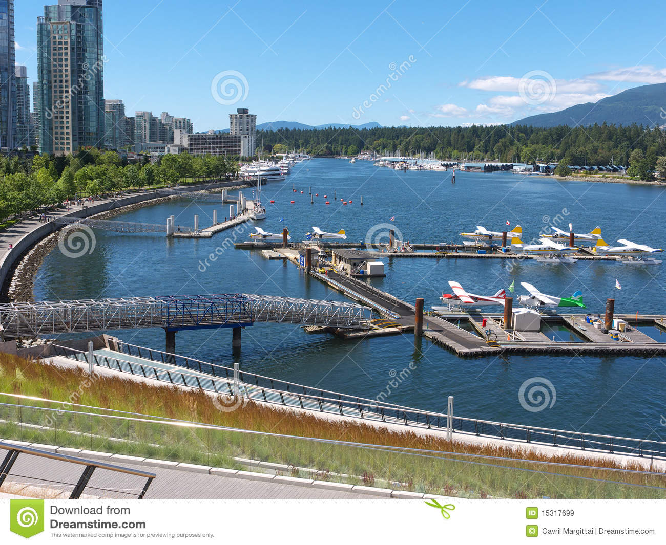 New Airport At Coal Harbor Vancouver Royalty Free Stock Images.