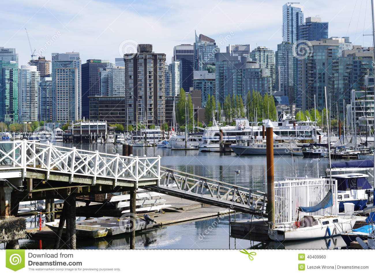 Coal Harbour In Vancouver Editorial Image.