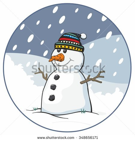 Traditional Coal Eyes Snowman Stock Photos, Royalty.