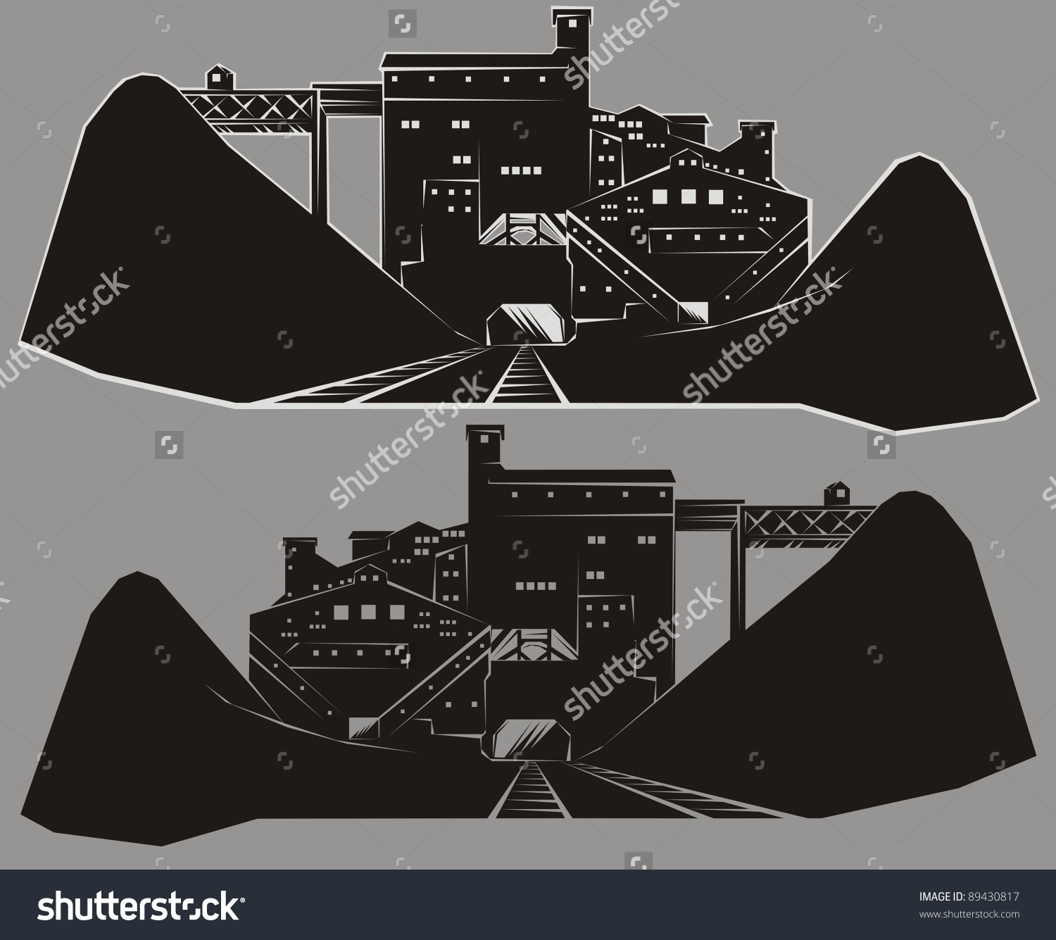 Coal mine outline clipart.