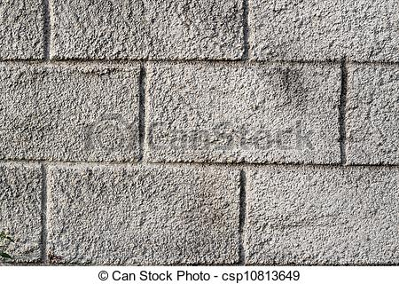 Stock Photo of Coarse texture of the old cracked concrete wall.