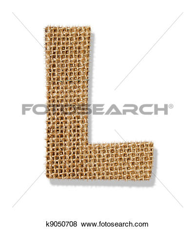 """Pictures of The letter """"L"""" is made of coarse cloth. k9050708."""