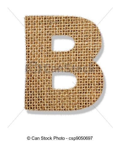 """Picture of The letter """"B"""" is made of coarse cloth. csp9050697."""