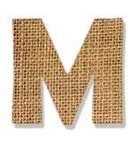 """Stock Photo of The letter """"R"""" is made of coarse cloth. k9050714."""