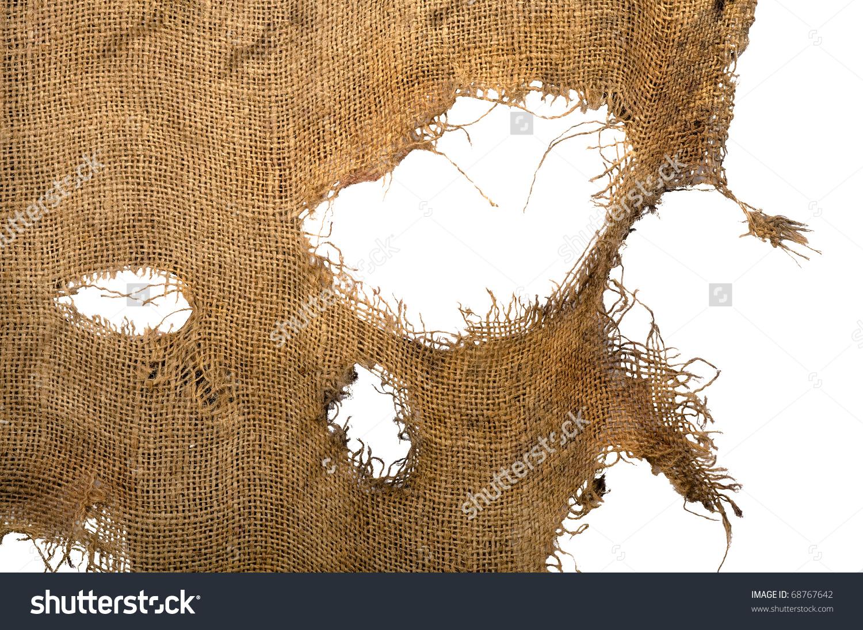 Leaky Frayed Coarse Cloth Burlap Background Stock Photo 68767642.