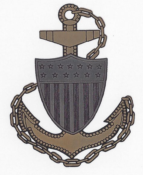 Fowled Anchor with Shield is the insignia for the Coast.
