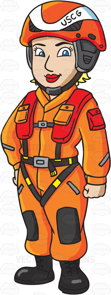 Coast guard man clipart black and white.