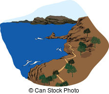 Coastline Illustrations and Clip Art. 7,301 Coastline royalty free.