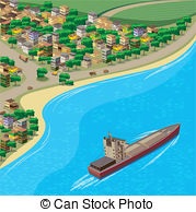 City Coastline Clip Art.