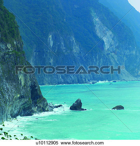 Coast rocks clipart #10
