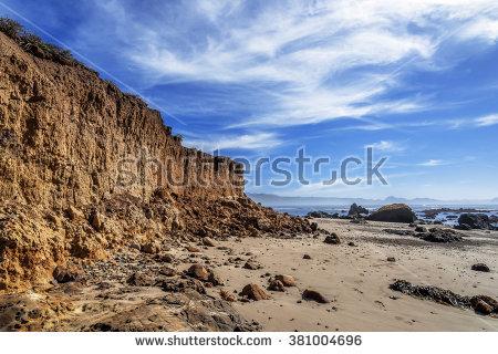 Beach Coastal Cliff Bluff Erosion Recent Stock Photo 376771378.