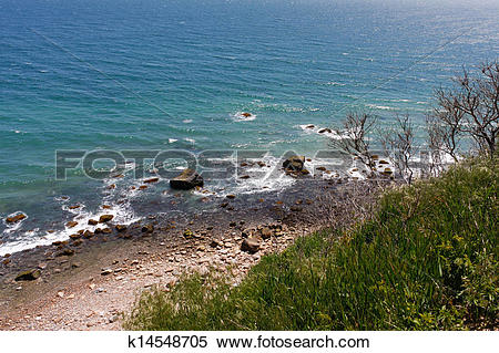Stock Image of Mohegan Bluffs Block Island k14548705.