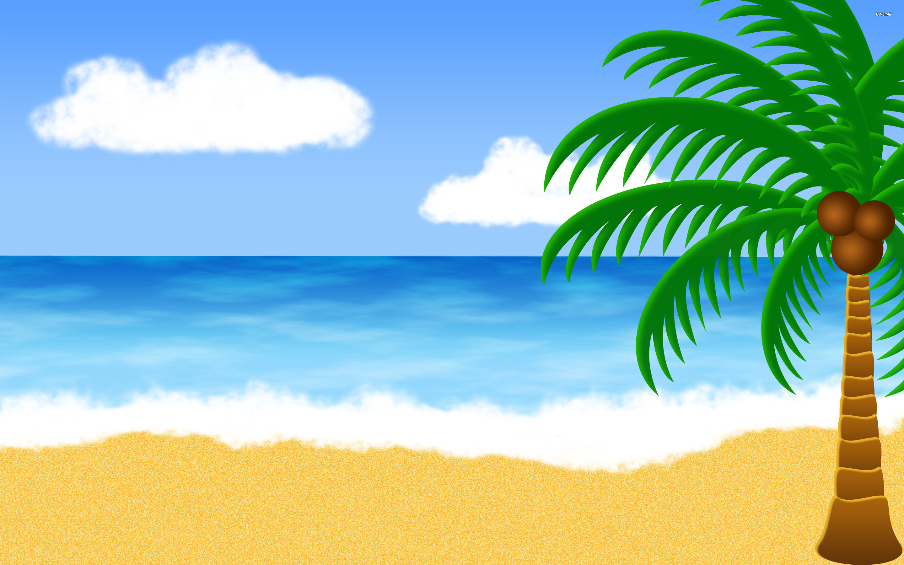 Cartoon Beach Background Clipart.
