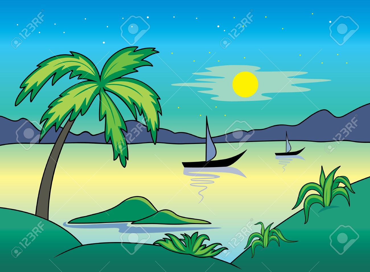 Landscapes clipart - Clipground