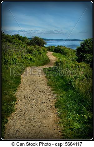 Stock Photography of Coastal Path.