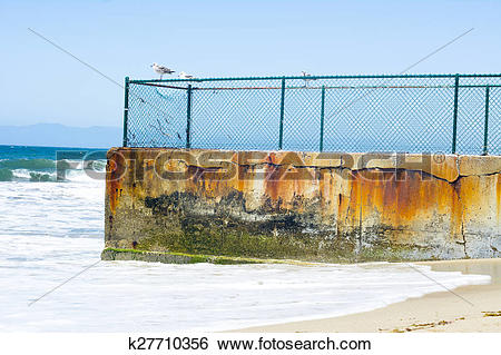 Stock Images of Coastal protection groin k27710356.