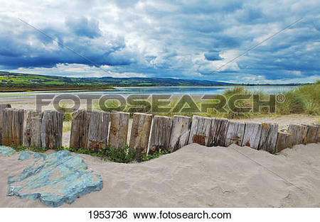 Stock Images of coastal protection on the cunnigar on dungarvan.