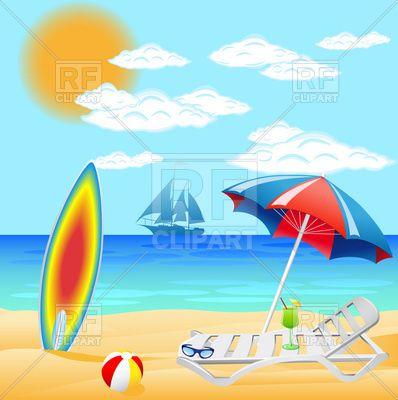 Sea beach clipart hd.