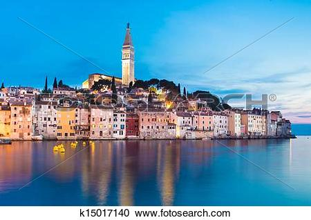 Stock Photography of Coastal town of Rovinj, Istria, Croatia.