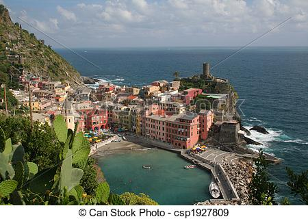Stock Photographs of Italian Coastal Town.