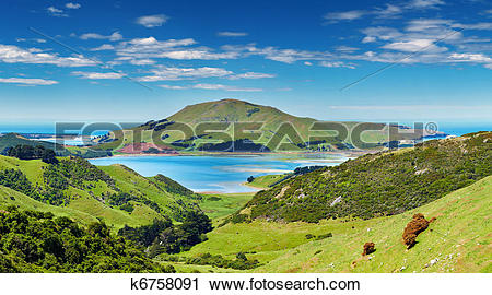 Stock Photography of Coastal view, New Zealand k6758091.