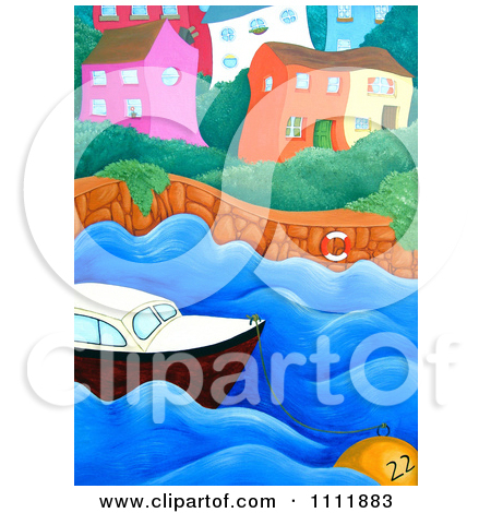 Clipart Person On A Beach Chair With Ice Cream And A View Of.