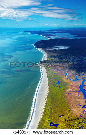 Stock Photography of Coastal view, New Zealand k5430571.