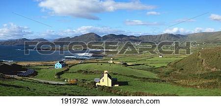 Stock Photo of Irish Coastal Village; Allihies, County Cork.