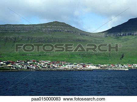 Stock Photo of Scandinavia, coastal village paa015000083.