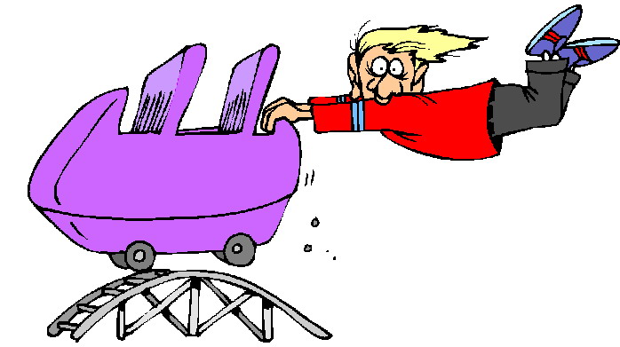Cartoon Roller Coaster Clipart.