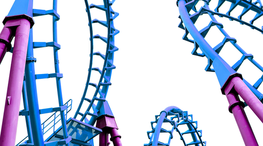 Amusement ride,Blue,Amusement park,Roller coaster,Line,Electric blue.