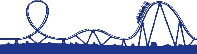 Free clip art of roller coasters.