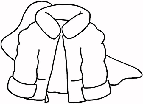 Winter Coat Coloring Page.