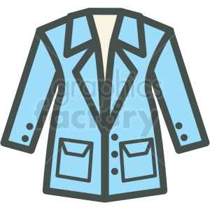 coat vector icon . Royalty.