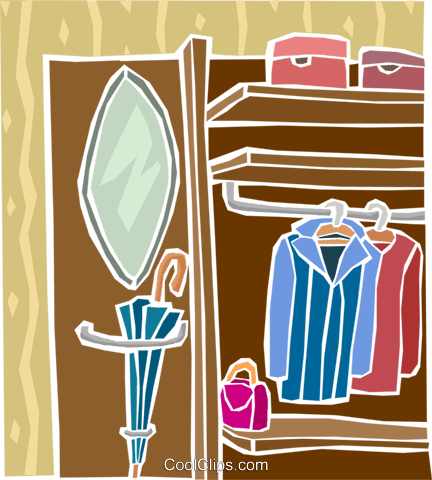 Clothes Closet Royalty Free Vector Clip Ar #218516.