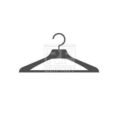 Plastic coat hanger silhouette Vector Image #267.