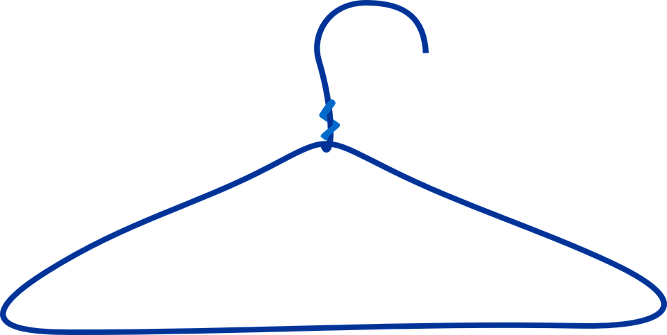 Free vector graphic: Hanger, Clothes, Wire.