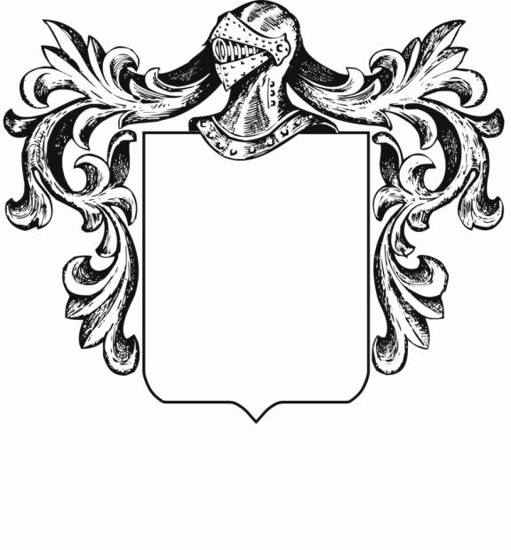 Coat Of Arms Template With Banner.
