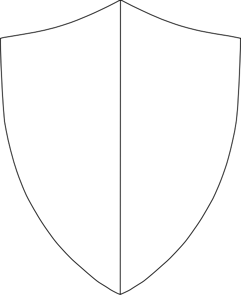 Split Coat Of Arms clip art.