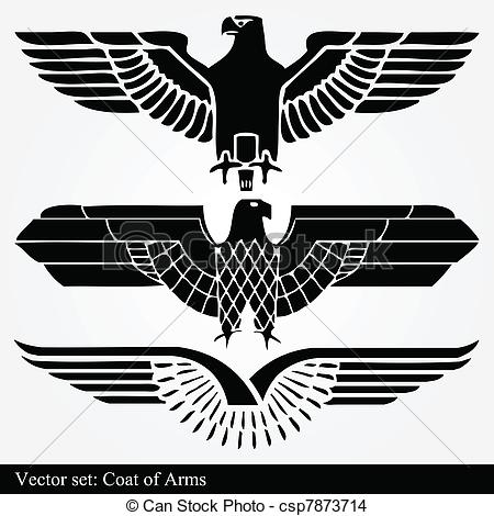 EPS Vector of Eagle coat of arms heraldic vector csp7873714.