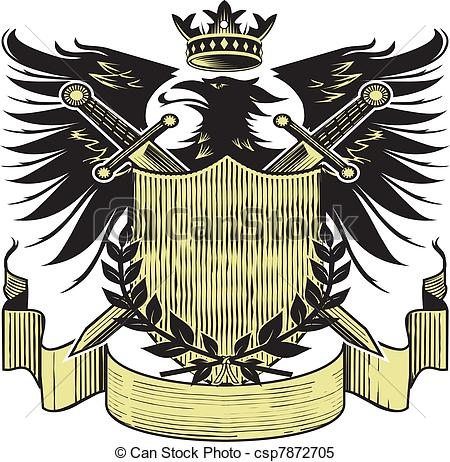 Clipart Vector of Kings Blackbird Crest.