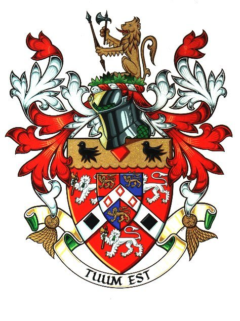 Hand Painted Coats of Arms by qualified Heraldic Artist.