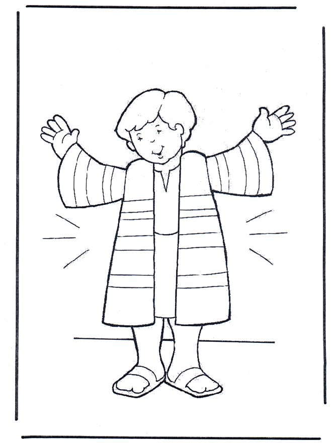 Free Josephs Coat Of Many Colors Coloring Page, Download.