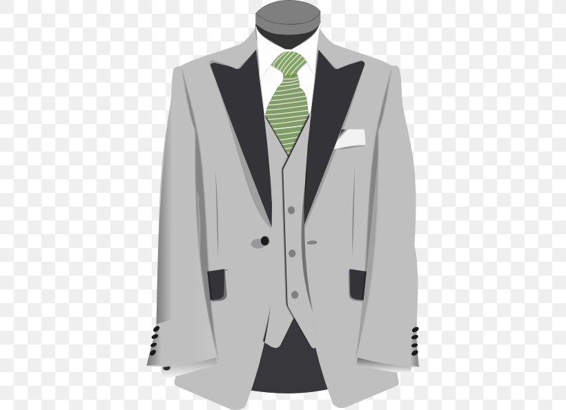 Suit Jacket Necktie Clip Art, PNG, 396x595px, Suit, Blazer.