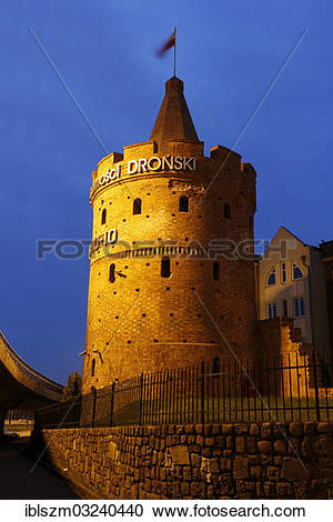 """Stock Photography of """"Maiden Tower or Seven Coats Tower, Szczecin."""