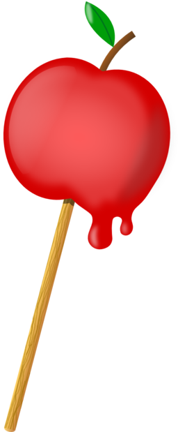Sugar Coated Apple Clipart.